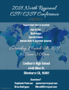 CSF/CJSF North Conference 2018 at Lindhurst High School