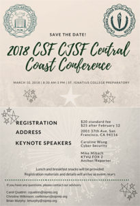 CSF/CJSF Central Coast Spring Conference 2018 hosted by St Ignatius College Preparatory