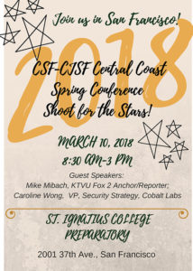 CSF/CJSF Central Coast Conference 2018 registration and info