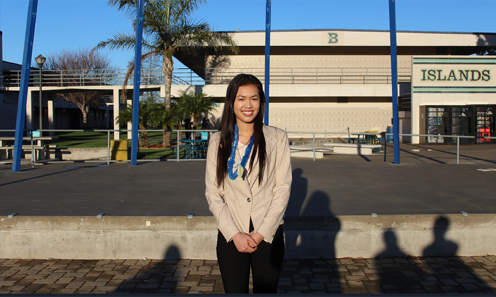 Jacqueline Le, Seymour South Central finalist 2017-18. Adolfo Camarillo HS, Chapter 542, CSF Adviser Colleen Colburn.